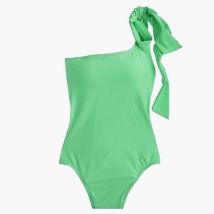 J. Crew Bow Tie One Shoulder Swimsuit NWT